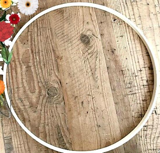 Easy DIY Fall Hoop Wreath