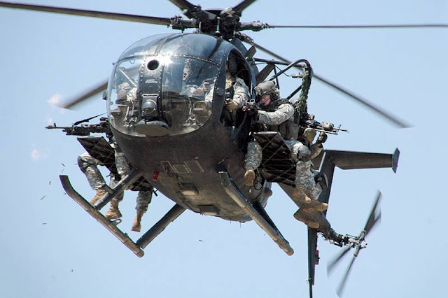 US Army Little Bird helicopter