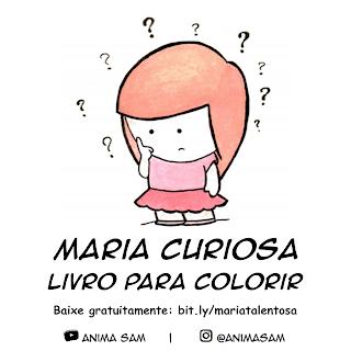 Livro para colorir grátis da Maria Curiosa