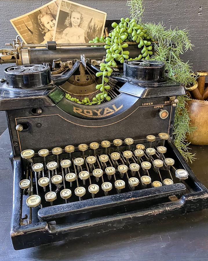 Styled vintage typewriter