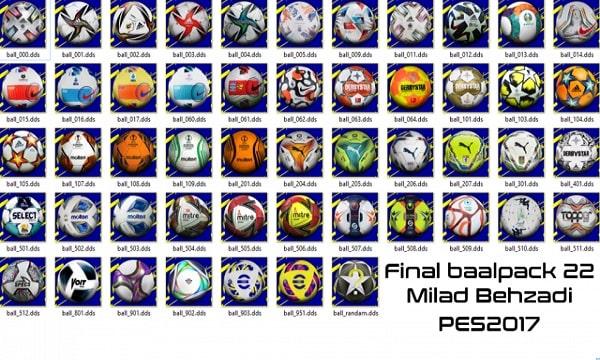 PES 2017 Final Ballpack Season 2021-2022