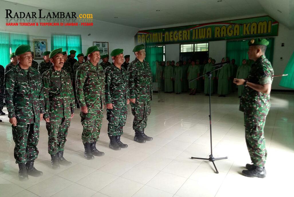 Lima Perwira Kodim 0422 Lampung Barat Dirolling