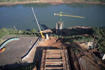 Fotos da construção: divulgação Itaipu Binacional.