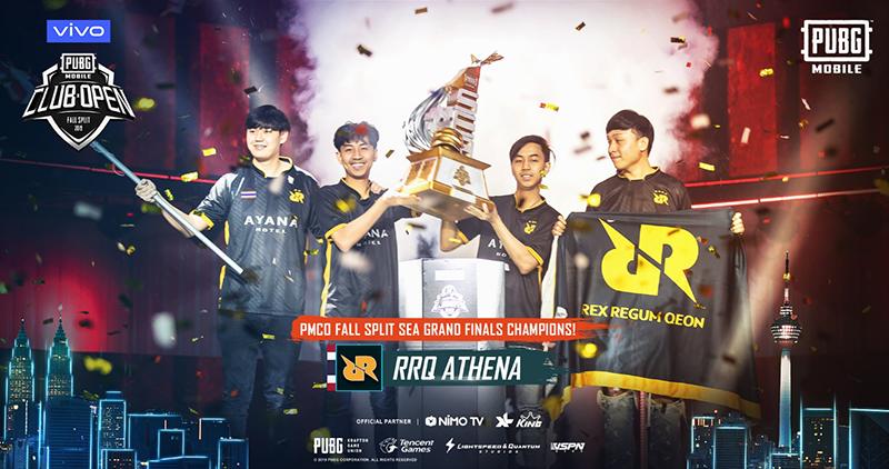 RRQ Athena wins PUBG SEA championship featuring Vivo V17 Pro
