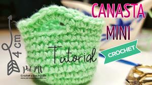 Canasta Mini a Crochet | Tutorial en video