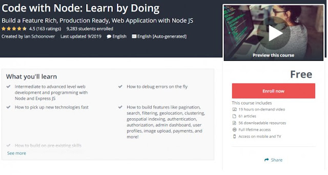 [100% Free] Code with Node: Learn by Doing