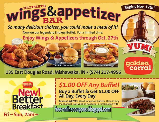 Golden corral coupons printable april 2018