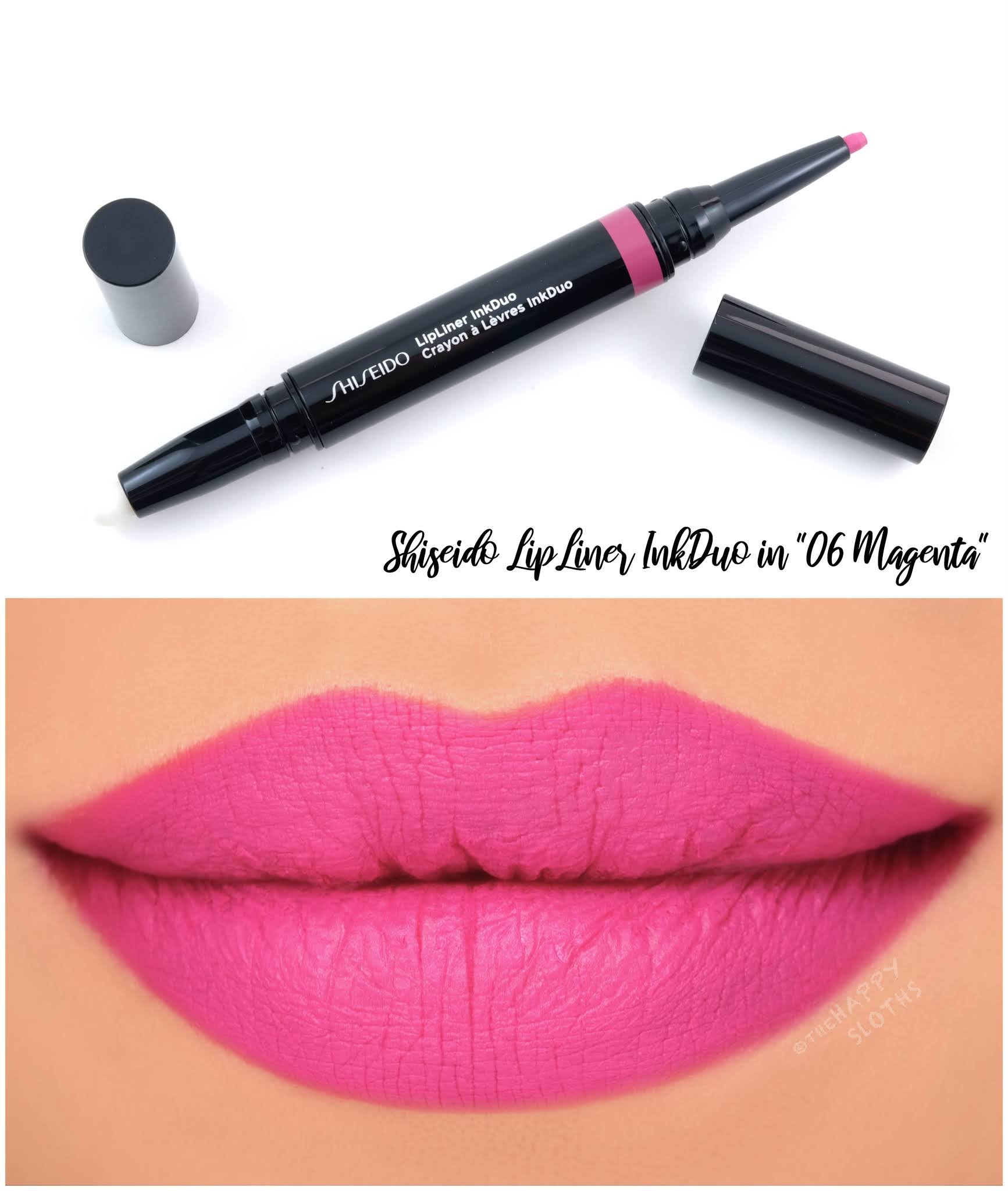 "Shiseido | LipLiner InkDuo in ""06 Magenta"": Review and Swatches"