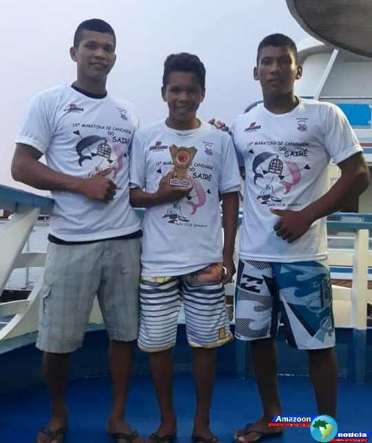 Alunos do Projeto de Canoagem de Oriximiná levam medalhas na Maratona do Sairé.