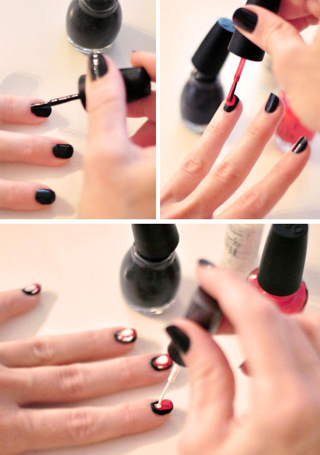 ikat nail art manicure