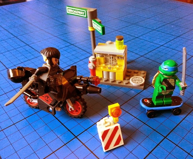 TMNT LEGO set 79118 Karai Bike Escape Full Set Leonardo Turtle Karai minifigure two colour hair