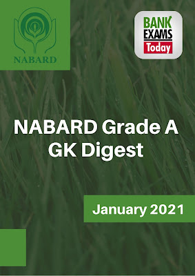 NABARD Grade A GK Digest: January 2021