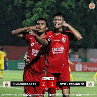 Semen Padang FC Imbangi Bhayangkara FC