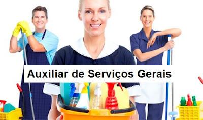Auxiliar de Serviços Gerais Vagas Emprego Manaus