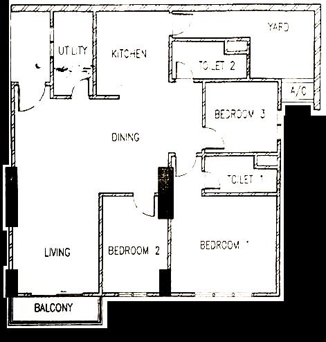 Straits Garden Condo Plan Raymond Loo 019-4107321