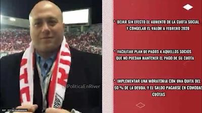 Antonio Caselli, Caselli, Cuota, Propuesta, Coronavirus, bajar la cuota, River, River Plate,