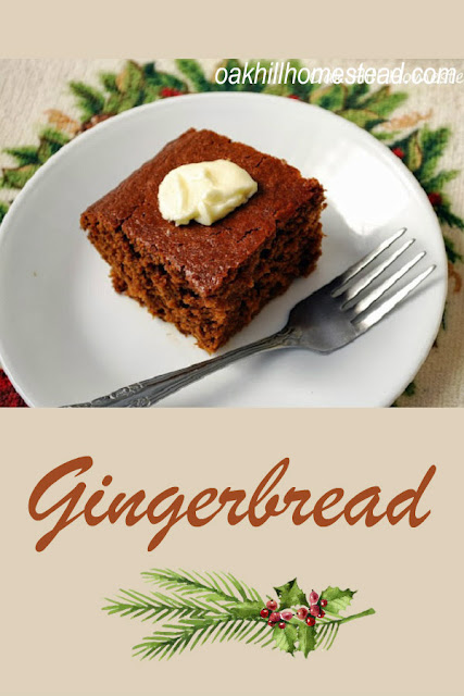 Gingerbread with a deep spice flavor