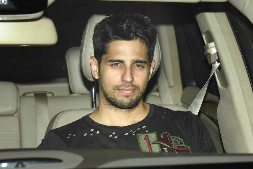 Alia Bhatt and Sidharth Malhotra at Karan Johar's Residence