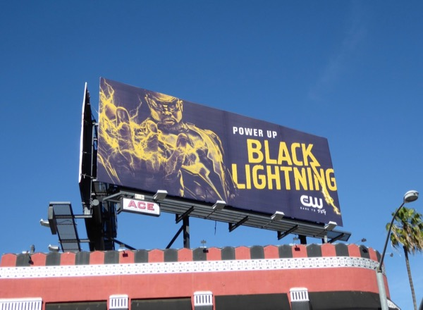 Black Lightning series teaser billboard