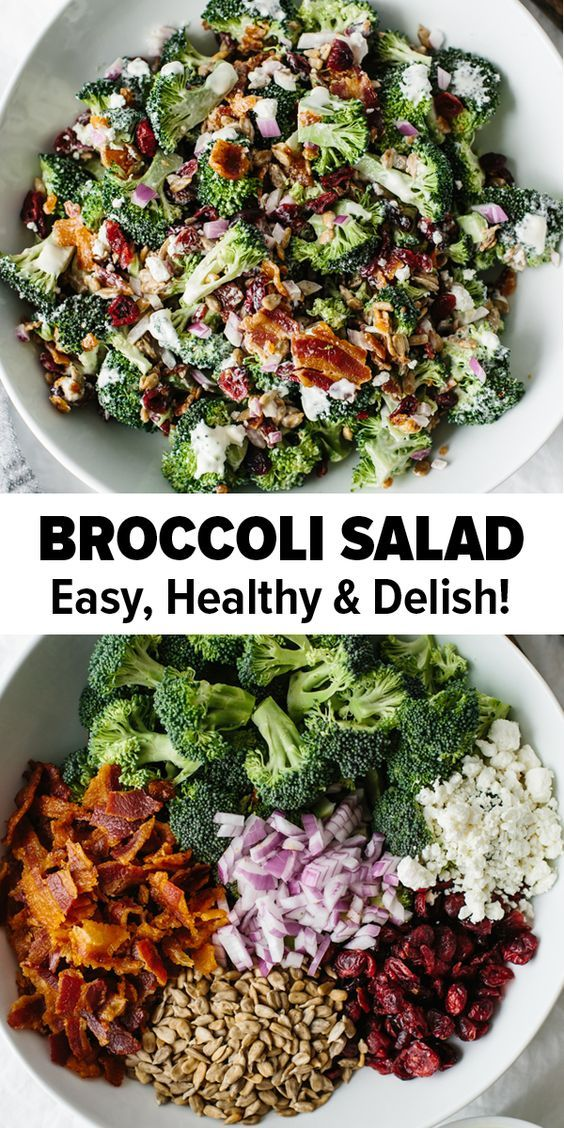 The Best Healthy Broccoli Salad