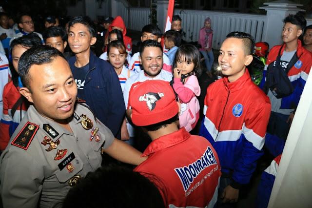 Kapolres Ajak Anak Muda Jaga Kondusifitas Di Kabupaten Karawang