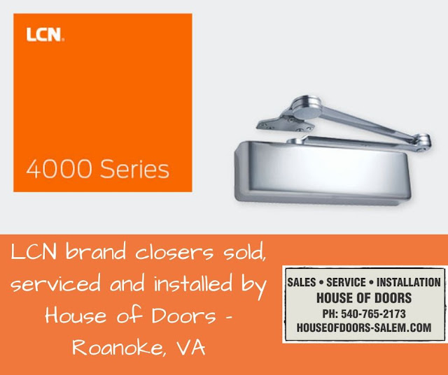 LCN brand closers sold, serviced and installed by House of Doors - Roanoke, VA