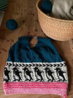 Pinguïns breien fair isle restjes trui