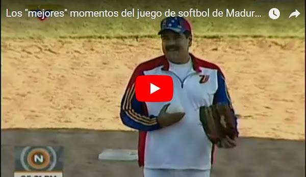 Maduro en su circo jugando softbol mientras pueblo muere de hambre