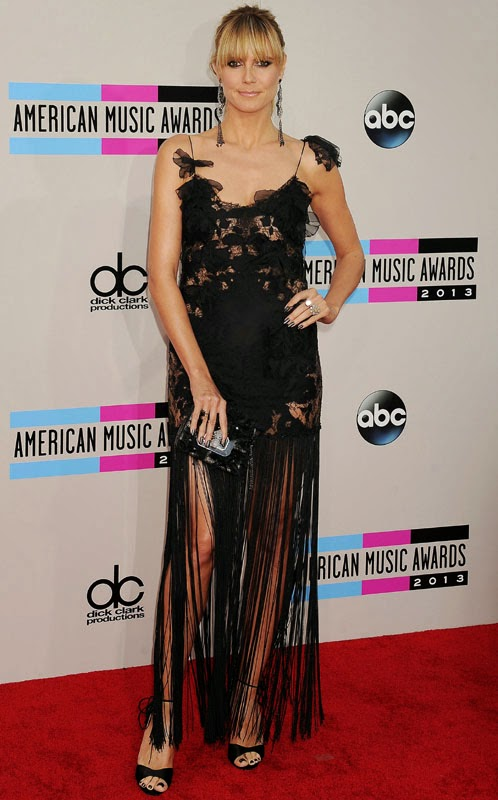 Heidi Klum Fashion stills from 2013 American Music Awards