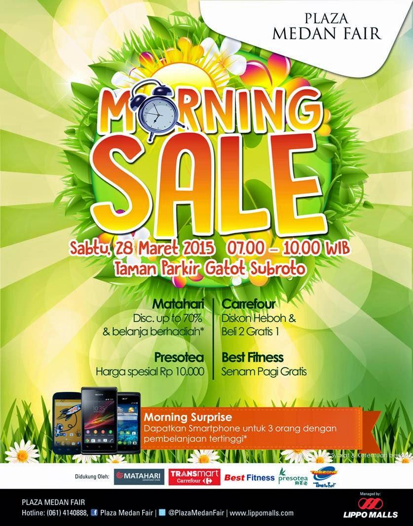 Morning Sale di Plaza Medan Fair, Olahraga Sambil Belanja