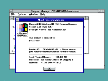 Windows NT 3.51 Display