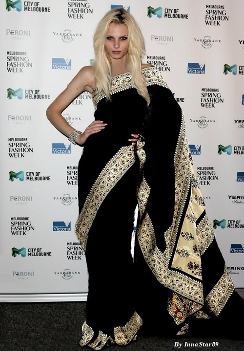 Andrej Pejic In Saree
