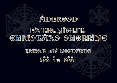 Melrose late night shopping event poster