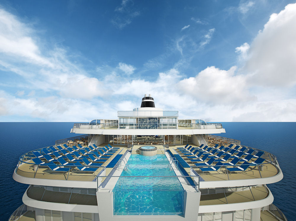 Viking Ocean Cruises' Viking Star aft view of the infinity pool. Photo: ©Viking Cruises.