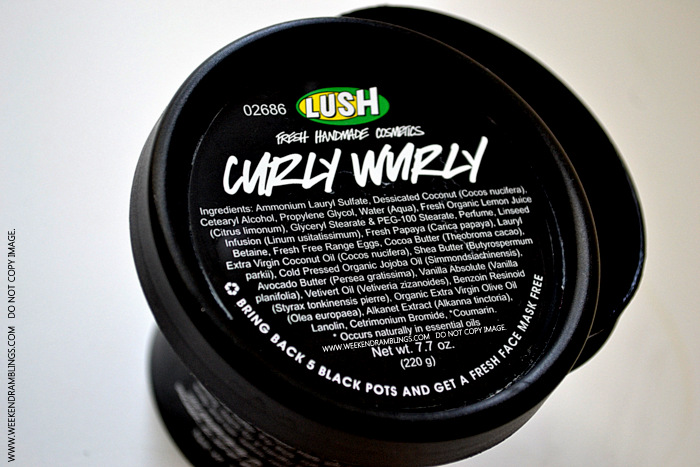 Lush Curly Wurly Shampoo - Ingredients