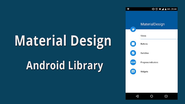 Material Design Android Library Example Source Code