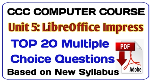 libreoffice impress mcq, ccc computer course in hindi