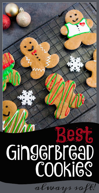 Best Gingerbread Cookies! This gingerbread recipe is easy and gives you nice and soft, delicious gingerbread man cookies every single time!  This recipe is naturally low in sugar, high in taste plus they look amazing decorate. This is our families best Christmas cookies