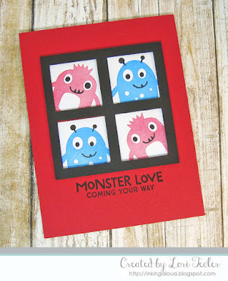 Monster Love card-designed by Lori Tecler/Inking Aloud-stamps from My Favorite Things