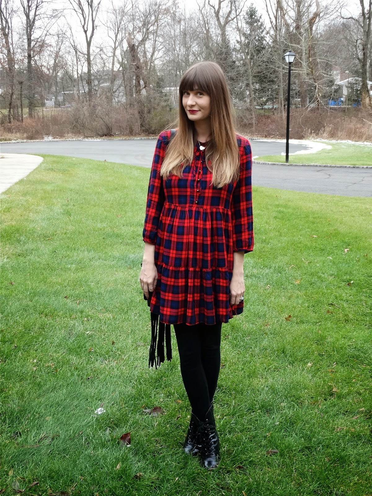 Plaid dresses for the holidays | House Of Jeffers blog | www.houseofjeffers.com