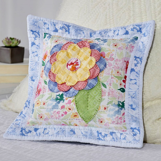 Flower Petal Pillow Free Quilt Pattern