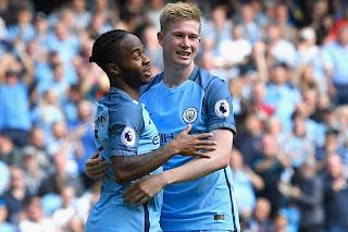 Raheem Sterling, Kevin de Bruyne, Manchester City 4-0 Bournemouth, EPL 2016/2017