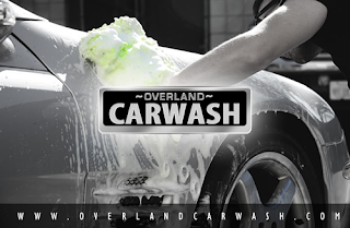 car being washed at overland carwash