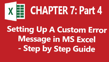 guides on how to set up a custom message for a cell in ms excel