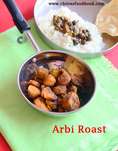Arbi roast recipe