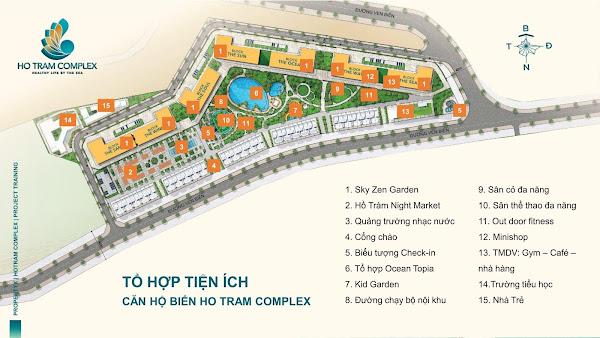 tiện ích trong dự án Hồ Tràm Complex của chủ đầu tư Hưng Thịnh Land