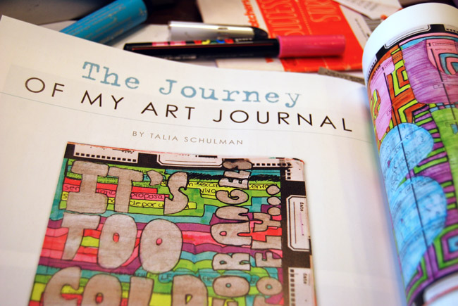 Art Journaling Inspirations → http://schulmanart.blogspot.com/2016/01/my-favorite-art-journaling-magazine.html
