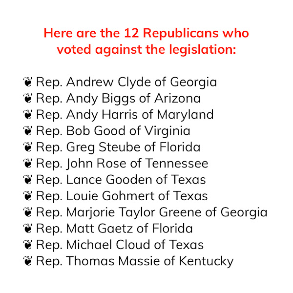 Here are the 12 #Republicans who voted against the legislation