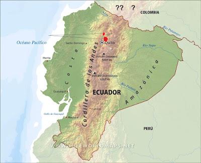 Turquoise throated Puffleg map