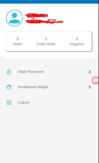Tampilan Profil Aplikasi E-Presensi Menggunakan Ponsel Android